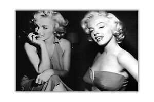 MARILYN MONROE COLLAGE MONTAGE CANVAS PRINTS WALL ART DECORATION PICTURES PHOTOS