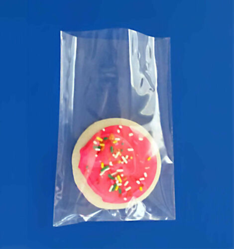 """3x4/"""" 100-1000 Cello Clear Polypropylene for Small Cookies 1.5 Mil Plastic Bags"""