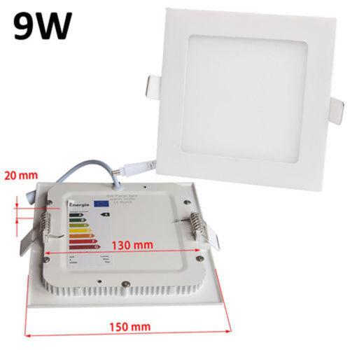 Square Flat Panel LED Recessed Light Panel Ceiling Down Light Ultra Slim