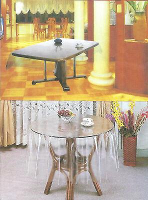 135x180 cm OVAL Tischdecke Durchsichtig Transparent SCHUTZDECKE Pflegeleicht