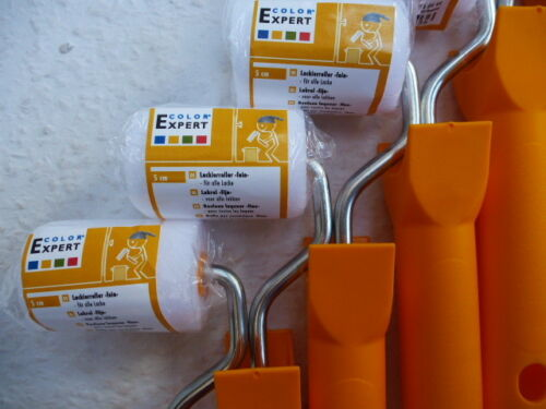 gerade € 1,29 St // 10  Lackierroller fein 5 cm 19 cm Bügel,Color-Expert