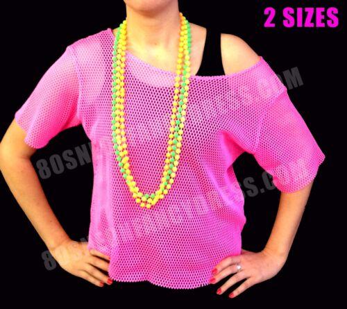 - VENDITA 10/% DI SCONTO! Neon Perline e Braccialetti Neon AFFARE S-XXL 80s Mesh Net Top 3