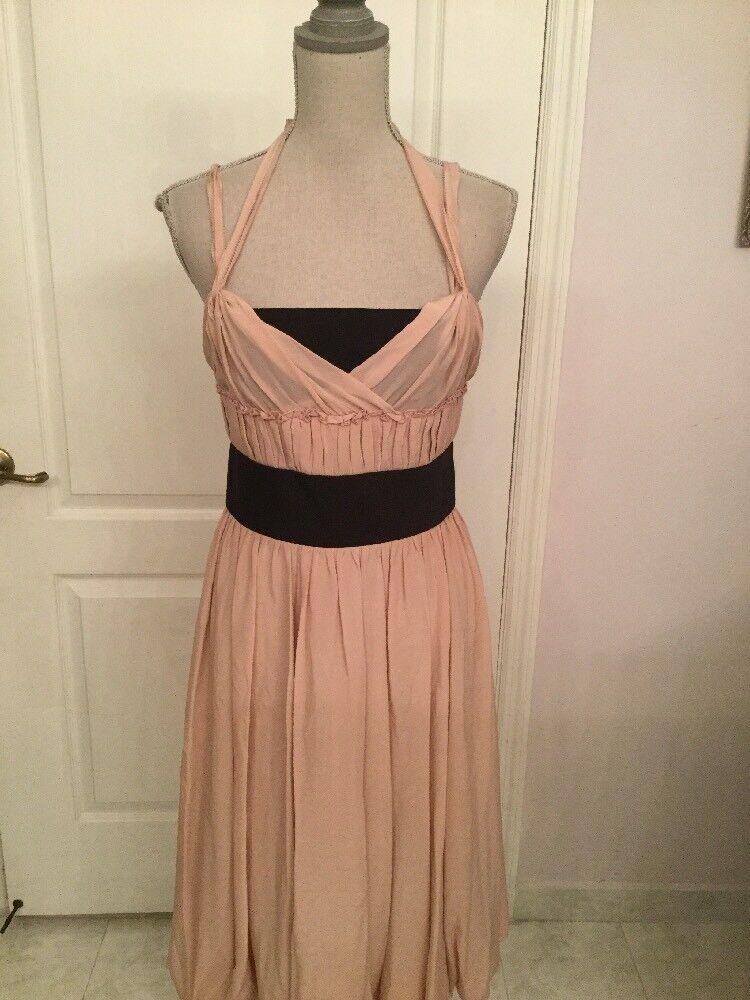 Carolina Herrera Silk Gathered bluesh Dress size 8