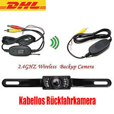 AUTO Mini170° Rückfahrkamera Nachtsicht + Funk KFZ Sender+Empfänger Wireless Set
