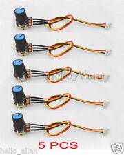 5Pcs Portable 10K OHM Linear Taper Rotary Potentiometer B10K Pot 3P Wire Plug