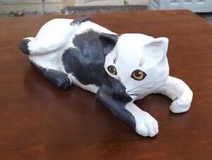 Gatto-in-ceramica-di-Albisola-scultura-dipinta-a-mano-Albissola-ceramic-cat