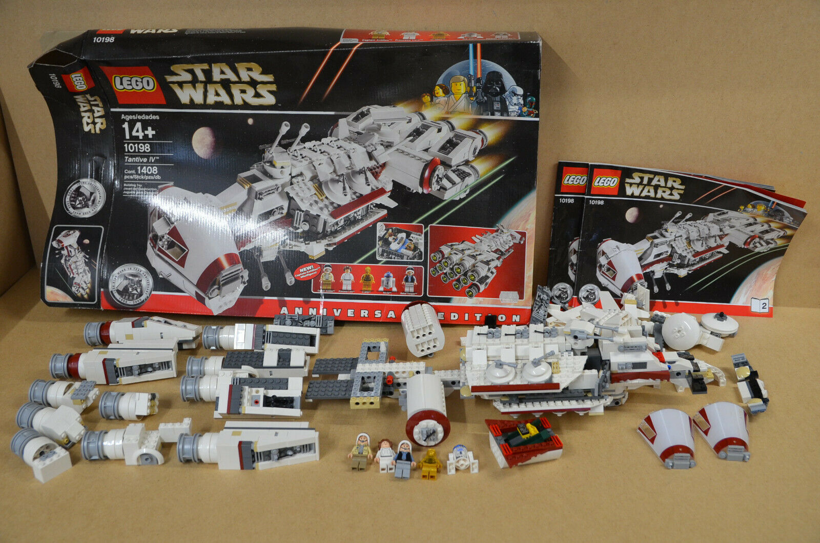 Lego Star Wars 10198-Tantive IV-con figuras ba y en su embalaje original