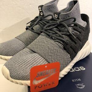 best service a295b dd2e6 Details about Adidas consortium Kith NYC Tubular Doom PK Ronnie Fieg Size  10.5 AQ3913 Grey RF