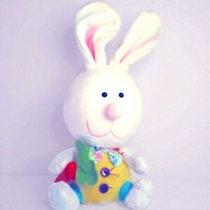 """Easter Decor Bunny Rabbit 15"""" White Bow Tie Carrot Wired Ears Foam Head NOT TOY"""