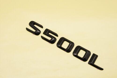 GLOSS BLACK BENZ S500L REAR TRUNK LETTERS BADGE EMBLEM FOR BENZ S-CLASS