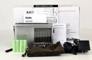 Kaito KA1103 AM/FM Stereo SSB SW Radio w/268 Presets & T1 SW Antenna! Free Ship