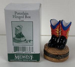 Vintage Cowboy Boots Trinket Box or Pill Box