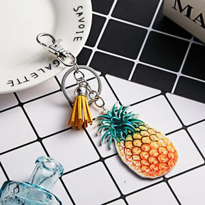 Fruit-Strass-Porte-cles-Keychain-Charm-Pendentif-Sac-a-main-voiture-Key-Chain-LD