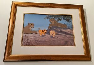 DISNEY LION KING GETTING INTO MISCHIEF LIMITED EDITION ANIMATION CEL $2650