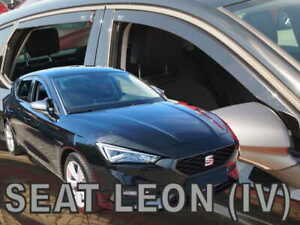 HEKO TINTED WIND DEFLECTORS for SEAT LEON IV 5D 2020-up 4pc