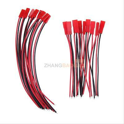 10 Pairs 150mm Male + Female 2-Pin JST Connector Plug for RC Lipo Battery Part Z
