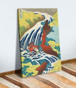 Hokusai Yoshitsune Falls CANVAS WALL ART CANVAS ARTWORK PRINT PICTURE Japanese