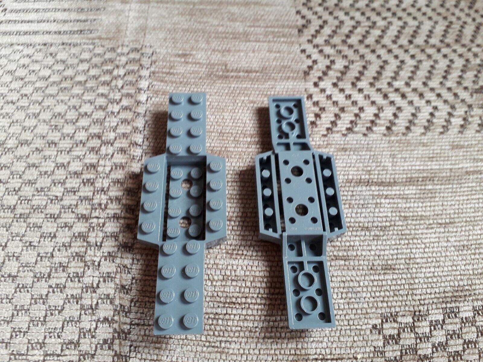2460 Dark Bluish Grey x 4 Lego Tile 2 x 2 with centre pin Part No