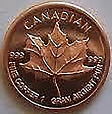 20 x Rame Copper 999 Moneta rame moneta Foglia Acero Molto Nobile Rari & Nuovo