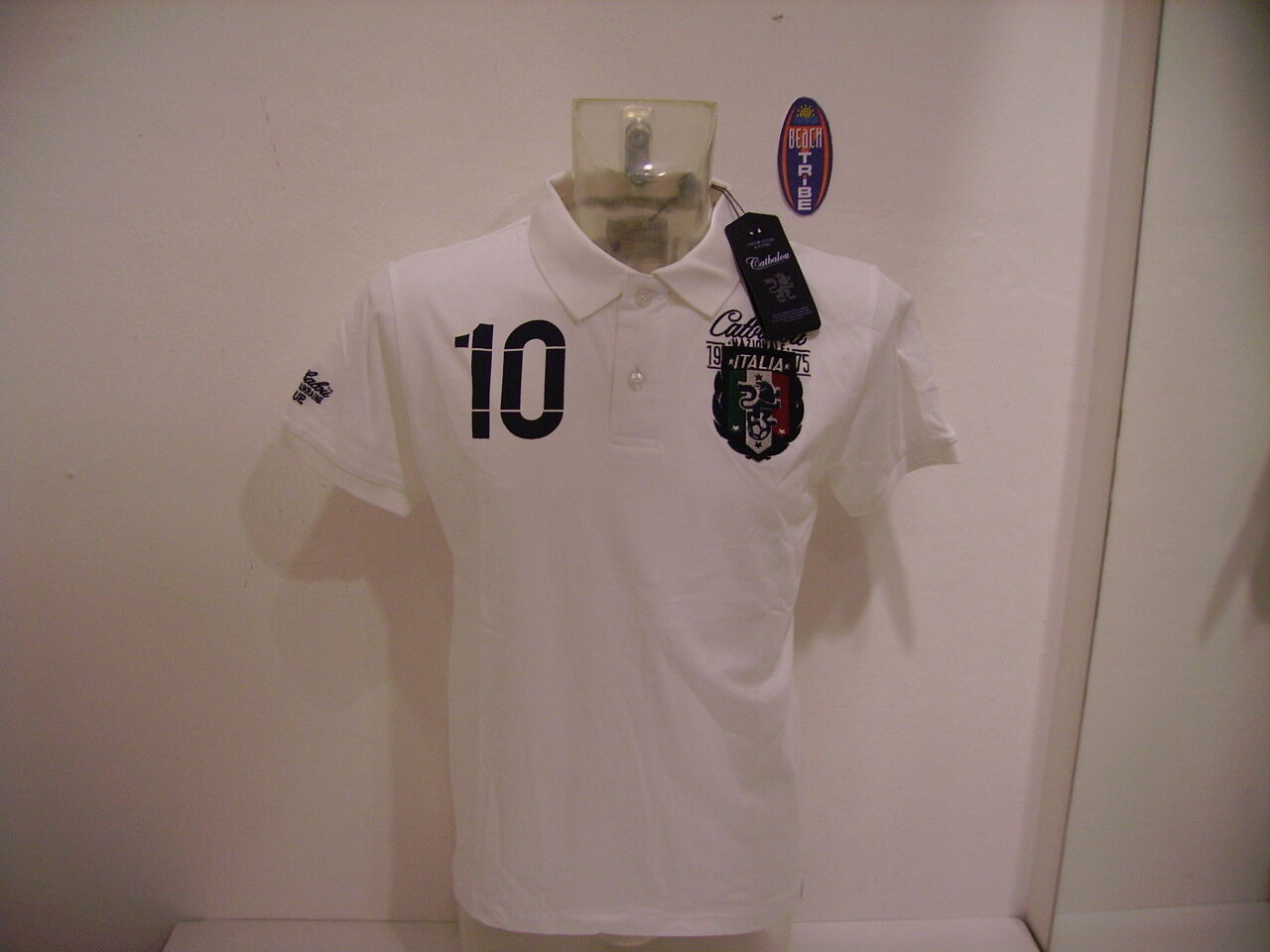 POLO KURZE ÄRMEL CATBALOU ITALIE 12 NATIONAL white M