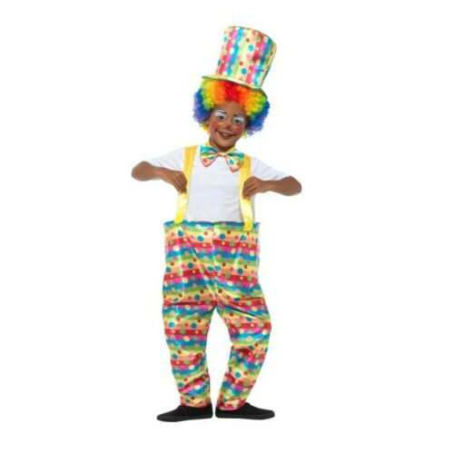 Boy/'s Ronald MacDonald Clown Fancy Dress Costume Circus Kids Party Fun Book Week