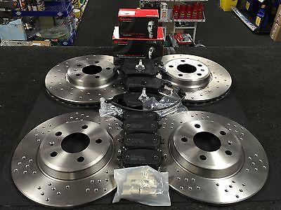 Rear Brake Pads Brake Discs 300mm Solid Fits Audi A5 3.0 TDI quattro 3.2 FSI