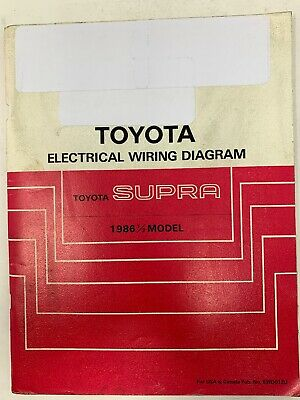 1986 Toyota Supra Electrical Wiring Diagram Repair Service ...
