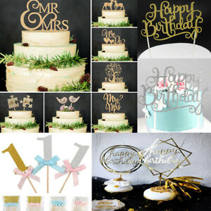 Creative-CAKE-TOPPER-CANDELA-034-BUON-COMPLEANNO-034-10th-60th-PARTY-Supplies-Decorazioni