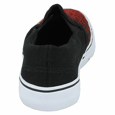 N1085 BOYS CASUAL SLIP ON SIDE GUSSET FLAT CANVAS SHOES JCDEES