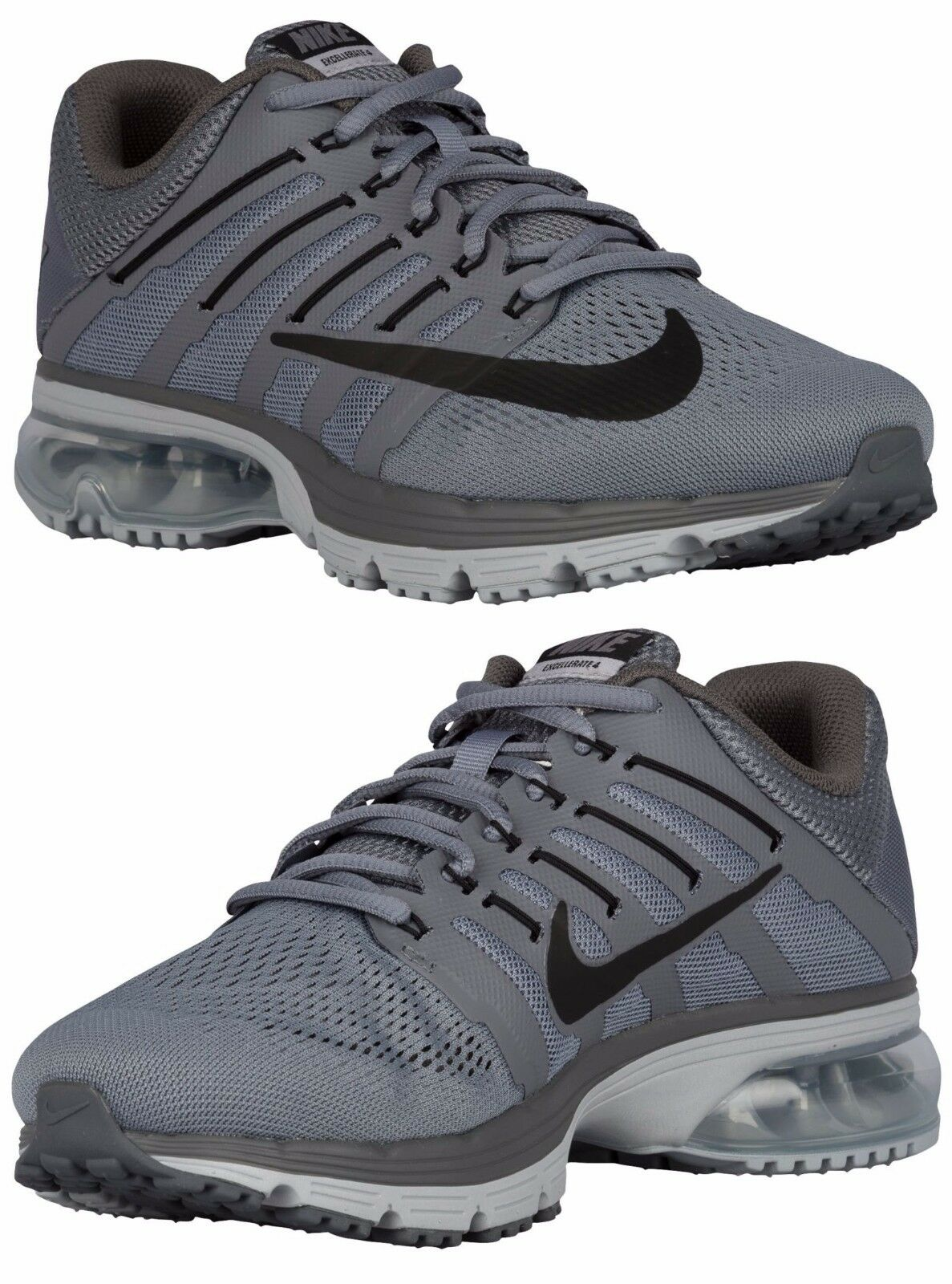 NIKE AIR MAX EXCELLERATE EXCELLERATE MAX 4 MEN's COOL GREY - WOLF GREY - BLACK - DARK GREY NEW b049eb