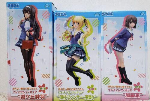 How to Raise a Boring Girlfriend 3 Premium Figure set Utaha Megumi Kato Eriri