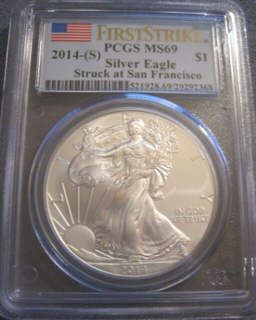 PCGS MS69 2006 American Silver Eagle First Strike 1 oz .999 Fine Silver Dollar