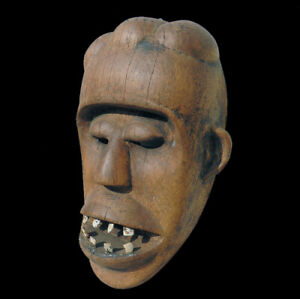 an old antique authentic african mask from the dan tribe #9