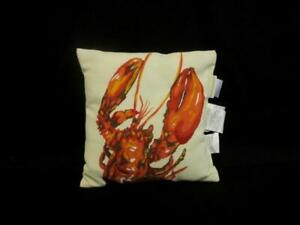 Pottery Barn Outdoor Throw Pillow Lobster Square White Red