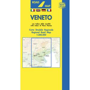 Veneto Regione Cartina.Veneto Cartina Regionale Stradale Scala 1 300 000 Carta Mappa Belletti Ebay