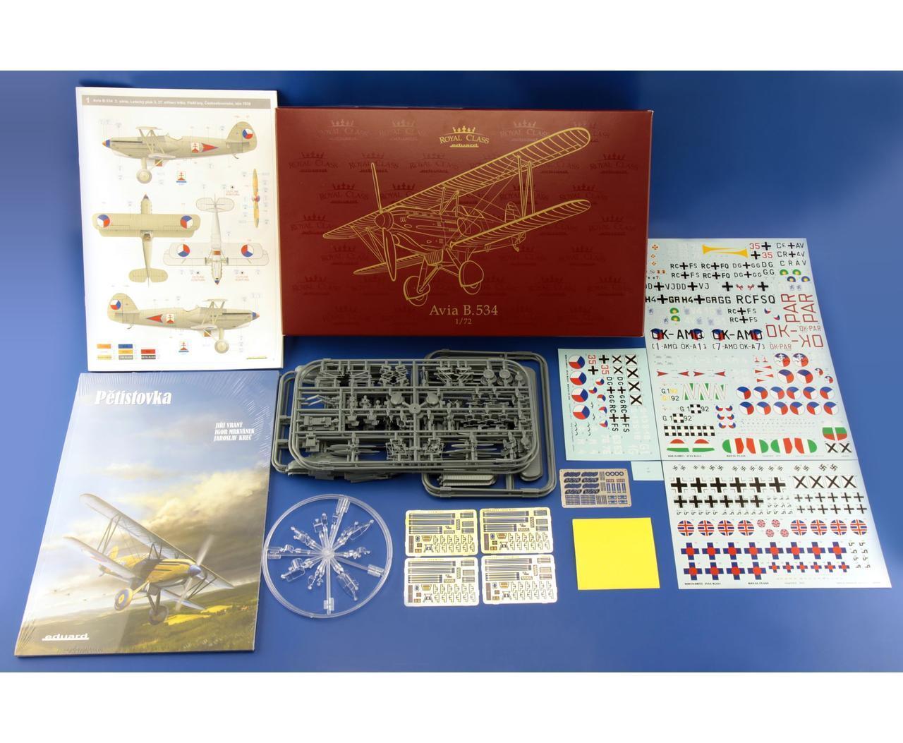 Eduard  R0010 1 72 Avia B.534 Quattro Combo Kit [Royal Class Series]