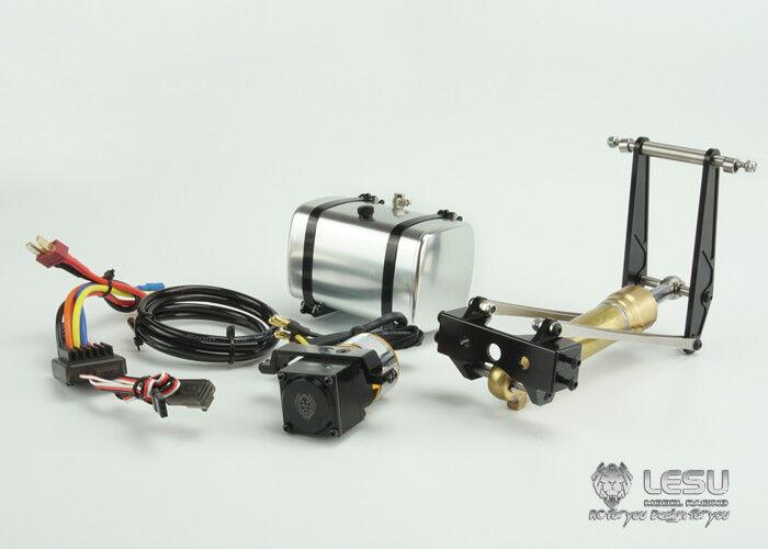 OLIO Idraulico Cilindro Sistema POMPA ESC LESU per 1 14 RC TAMIYA Dumper modello