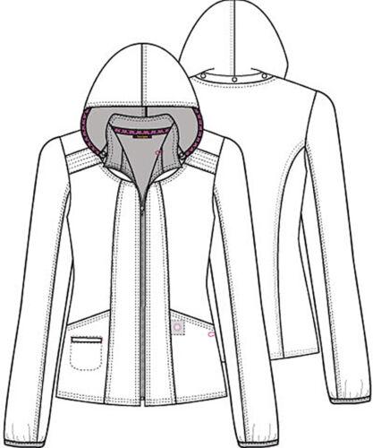 Plaid About Me Babe HeartSoul Scrubs Zip Front Bomber Jacket HS301 PLBB