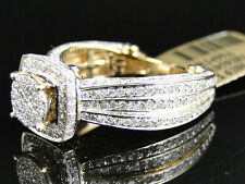 Ladies 10K Yellow Gold Eternity Style Pave Diamond Engagement Bridal Wedding