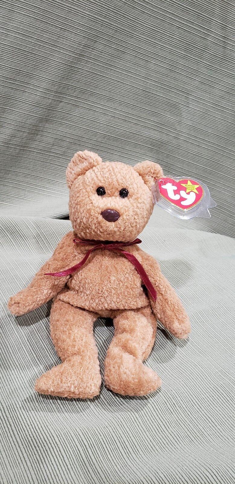 Ty Beanie Baby Curly the Bear w Many Errors 1993 MWMT