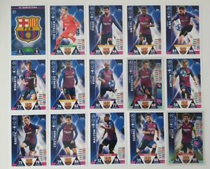 Match-Attax-UEFA-Champions-Soccer-Cards-Barcelona-Team-Set-incl-shiny-Messi