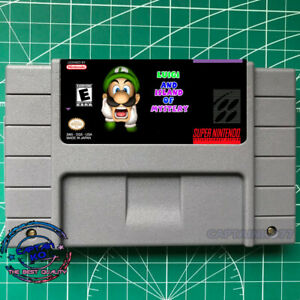 Luigi and the Island of Mystery SNES Video game  USA Version