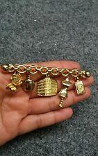 Stunning  vintage Christian Dior fashion perfume gold tone  Pin brooch
