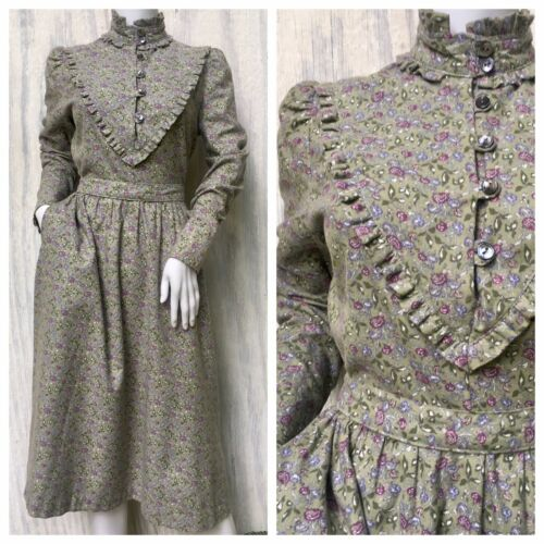 Dress Prairie Vintage LAURA ASHLEY 80s Carno Wales