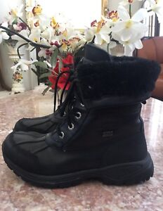 7aafdcad927 Ugg Australia 5209 Vibram leather Waterproof Black Boots Youth Sz 4 ...