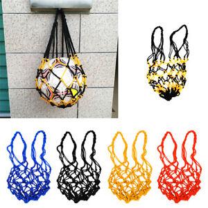2X Nylon Net Bag Ball Soccer Football Basketball Volleyball Carrier Holder