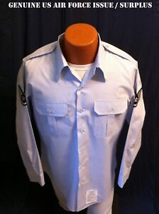 15-1-2-x-34-US-AIR-FORCE-USAF-SHIRT-MEN-039-S-LONG-SLEEVE-UNIFORM-SERVICE-DRESS-BLUE
