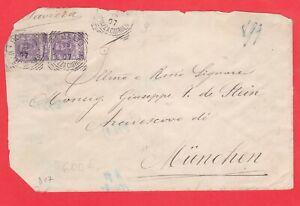 ITALIA-REGNO-coppia-50c-Vitt-Em-III-su-lettera-1907-da-Roma-a-Munchen