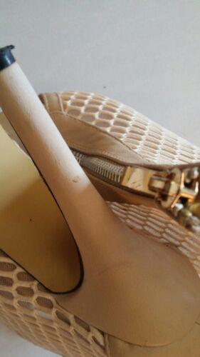 Top Chaussures Shoes Écru Femme Escarpins 37 qx6wSvAp