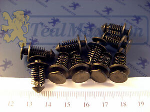 Jeu-de-10-agrafes-fixation-bandes-laterales-ailes-et-volet-AR-Peugeot-405-break